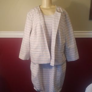 Talbots dress and matching jacket nwot 22w